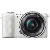 SONY Mirrorless Digital Camera [ILCE-5000L/W] - White - Camera Mirrorless